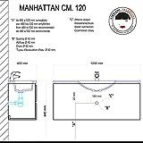 BAD MÖBEL MANHATTAN 120 CM MIT SCHUBLADEN UND SPIEGEL MIT SCHRANK Vergleich