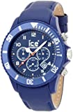 Ice-Watch Men's Chronograph Blue Big Leather Strap Watch CH.BE.B.L