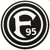 Fortuna Düsseldorf Autoaufkleber 'schwarz'