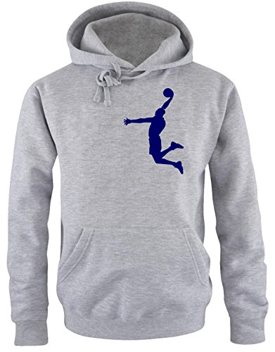 DUNK Basketball Slam Dunkin Kinder Sweatshirt mit Kapuze HOODIE Gray-navy, Gr.128cm