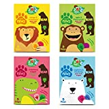 BEAR Nibbles Artic, Dino, Jungle, Safari PAWS Pure Fruit Shapes Selection 4 x 5 x 20g