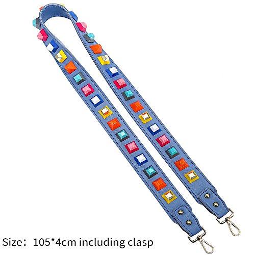 Ysinobear Kuriertasche Henkeltaschen Weiblichen Beutel Damen Handtaschen für Frauen Rosa Light Blue #1