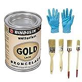 Goldlack wetterfest & farbtonstabil (750 Gramm)