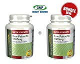 Simply Supplements Saw Palmetto 1000mg Bundle Deal 240 Capsules in total from Simply Supplements