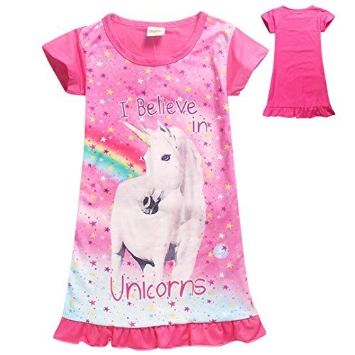 Beito Mädchen Einhorn Printed Regenbogen Prinzessin Casual Dress Nachthemd Nachthemd Für Kleinkind Pyjama