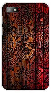 Crazy Beta Beautiful Flower Texture Design Printed Back Cover For BlackBerry Z10