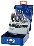 Bohrcraft Gewindebohrer Set HSS-G in Industriekassette  EGB 15 / M3 - M12 / 15-teilig / 4120 14 10015