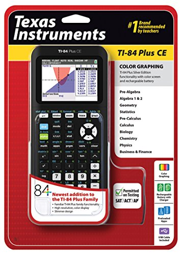 Texas Instruments Ti-84 Plus CE Calcolatrice scientifica, nero