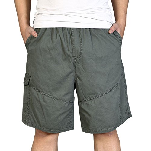 Pocket Cuffed Capris (zuzüglich SizeHerrenuhr Hose Fett Jungs Kurzschlüsse Dünger Loose man Capri Baumwolle Five Höschen Army Green 6XL)