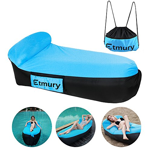 Canapé Gonflable, Etmury Chaise Longue Gonflable Air Sofa Portable Lit de Couchage Imperméable Gonflable Chaise avec Sac de Transport pour Intérieur et Extérieur Randonnée Camping Plage Jardin Voyage