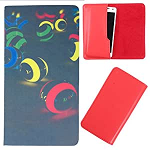 DooDa - For iBall Andi 4.7G Cobalt PU Leather Designer Fashionable Fancy Case Cover Pouch With Smooth Inner Velvet