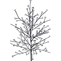 Garden Market Place Light Up Christmas Cherry Tree 1.5M Tall with 150 White Low Voltage LED Lights with Transformer