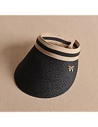 Cappello ZHIRONG Estivo da Donna Cappellino da Sole Estivo Spiaggia Senza  Nero Cachi Estivo Casual Moda 40951845f2a9