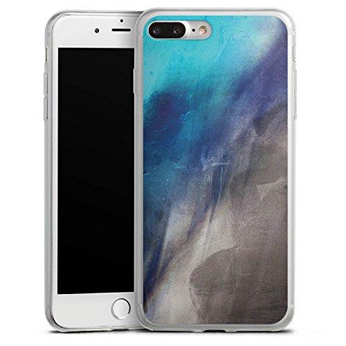 Apple iPhone 8 Slim Case Silikon Hülle Schutzhülle Wasserfarbe Kunst Pinsel Silikon Slim Case transparent
