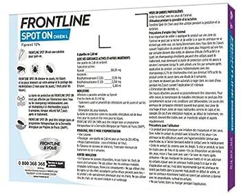 FRONTLINE Spot On Anti-parasitaire Puce et Tique pour Grand Chien de 20-40 kg- 6 Pipettes