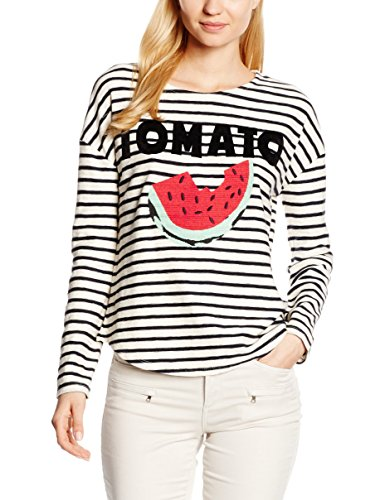 Leon & Harper Tron Tomato, Sweat-Shirt Femme Blanc (Off White)