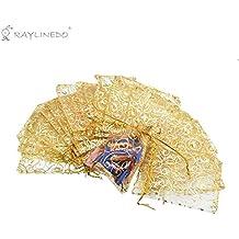b742d93d8 Raylinedo® 100PCS 10 cm * 12 cm bolsas de regalo de Organza de colores  efecto