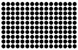 "Polka Dot Wall Decal Nursery Kids Room Peel and Stick Removable Sticker Circle Pattern Decor #1326 (1.5"" (150 Dots), Black)"