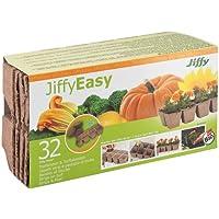 –Vasetti di torba Jiffy, rettangolare 6x 6cm–32pezzi