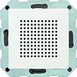 Gira 228227, Altoparlante Stereo/Radio RDS da incasso Sistema 55, Bianco opaco