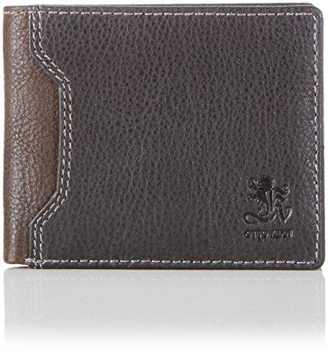 Otto Kern Natural Wallet OS-10 Unisex-Erwachsene Geldbörsen 23x9x1 cm (B x H x T), Schwarz (Black/Brown)