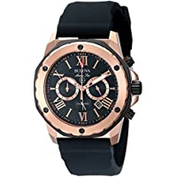 Bulova Marine Star Men's Quartz Watch with Black Dial Chronograph Display