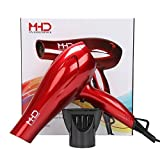 MHU Ionic Hair Dryer 1800w 2 Speed 3 Heat Cool Button Powerful Lightweight 2M cable UK Plug