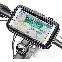iKross Universel Support Fixation Guidon Vélo, Bicyclette, Cyclisme avec Étui Imperméable pour téléphone mobile jusqu'à 5.5 pouces, iPhone Plus, Motorola, Huawei, LG, Samsung, Sony, HTC, Alcatel