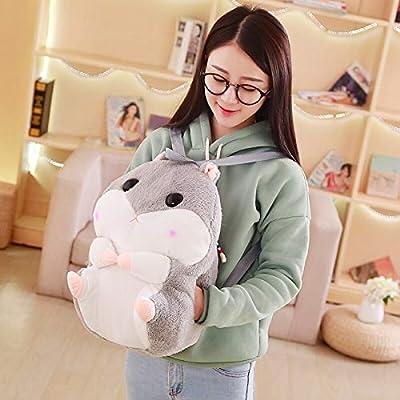 40cm Hamster Plush Mochila Cute Plush Hamster Hand Warm Kids Plush Baby Toy Boys School Bag Gift para niña Friendsc por Moonyue