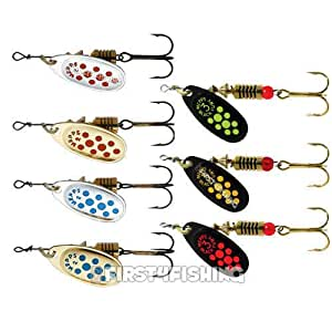Mepps comet spinners lures sea trout pike perch salmon for Amazon fishing lures