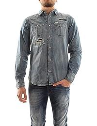 Diesel Hemden D-Broome Knopfleiste Button-Front Herren