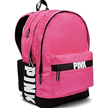 Victoria S Secret Pink Campus Backpack Faux Leather Solid
