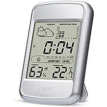 Igrometro/termometro Digitale, Monitor umidità da interno, Temperatura Digitale, Stazione meteo domestica con display LCD, sveglia,orario, calendario.