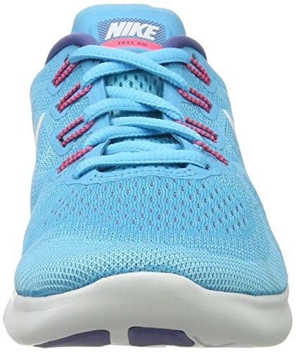 Nike Free Run 2017, Scarpe Running Donna Blu (azul Cloro / Blanco Polarizado Azul-b)