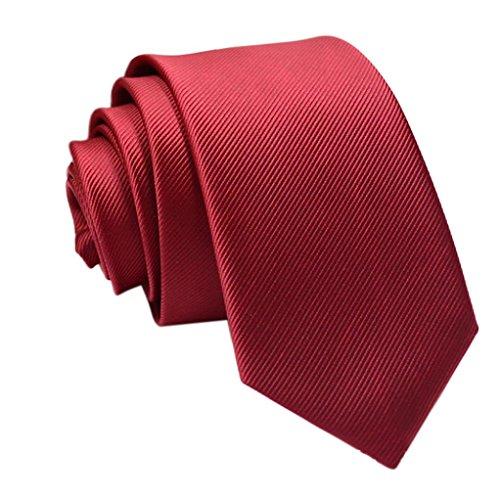 Coolster Herren Solid Krawatte Business Suit Slim Krawatten Casual Hochzeit Krawatten (Fein gestreift D) (Krawatte Unterwäsche Männer)