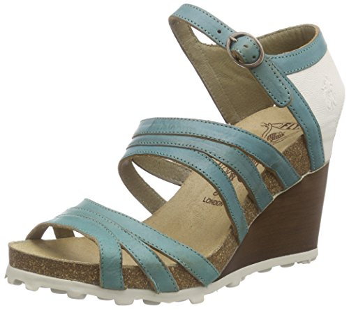 FLY LondonANKE617FLY - Sandali Donna Multicolore (Mehrfarbig (TURQUOISE/OFFWHITE 004))