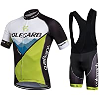 Fastar Cycling Clothing Sets Short Sleeve Jersey and Pants for Men Summer Breathable Lightweight Bike Clothing Cycling Suits Riding Sportswear M L XL XXL XXXL