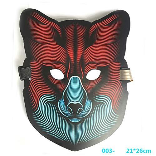 cozyswind LED-Licht Stimme Control Mask Kaltlicht Dance Party Horror Maske Halloween Maske