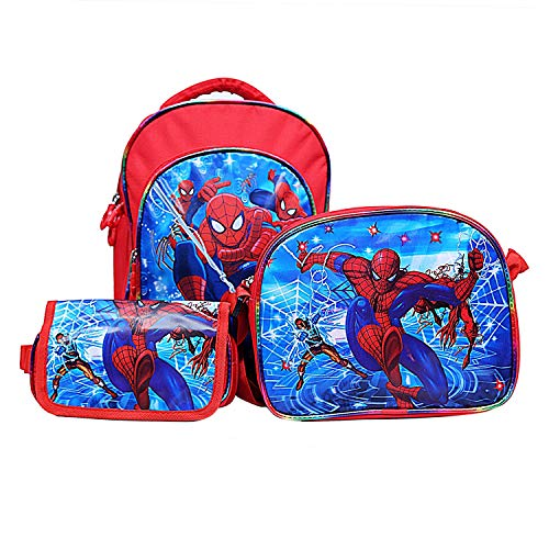 Best Shop Fabric 12 Ltrs Red Schoolbag Set With Pencil Pouch & Sling Bag