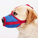 RC GearPro Bozal Ajustable para Perro, Boca para Mascotas, Malla de Aire para Anti-mordidas, Anti-ladridos, lamiendo Perros pequeños, medianos y Grandes (S)