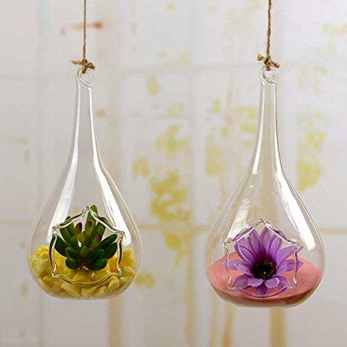 Set di 2 vasi per piante o candele in vetro da interni o - Portavasi per interni ...