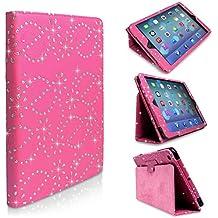 Hot Rosa luccicanti brillantini Custodia a portafoglio in pelle per Samsung Galaxy Tab 410.1(SM-T530/T531/T535) & Large Stylus Pen By mondo di custodia®