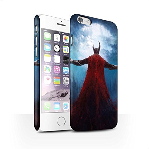 Offiziell Chris Cold Hülle / Matte Snap-On Case für Apple iPhone 6S / Gehörnter Dämon Muster / Dämonisches Tier Kollektion Dunkelste Stunde