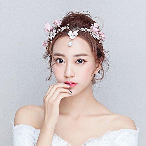 GLL wreath Brautkranz koreanische Hochzeit Haarschmuck Blume Hochzeitskleid mit Zubehör
