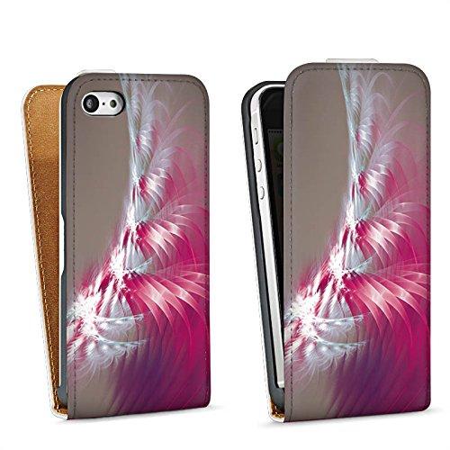 Apple iPhone 5s Housse Étui Protection Coque Motif Motif Lumière Sac Downflip blanc
