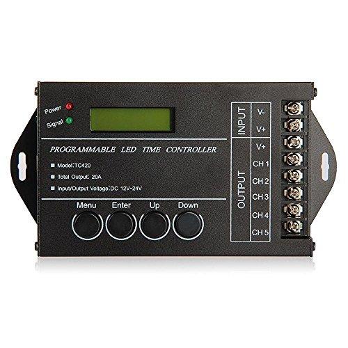 SODIAL R 20A temporizador programable DC12-24V controlador