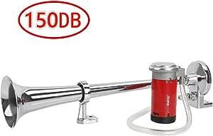 Rupse Hupe Luft Horn Lufthorn Drucklufthorn Auto Horn Mit Kompressor 150db 12v Für Pkw Lkw Booten Motorrädern Auto