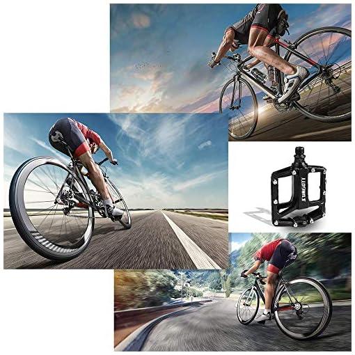sumgott Pedali Bici, Pedali Bicicletta/Pedali Flat MTB con Commuter Cuscinetti sigillati