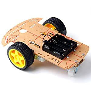arduino roboter 2wd bausatz kit car chassis mit getriebemotor spielzeug. Black Bedroom Furniture Sets. Home Design Ideas