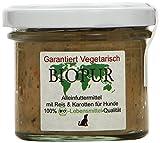 BIOPUR Reis und Karotten vegetarisches Bio Alleinfuttermittel für Hunde, 12er Pack (12 x 100 g)